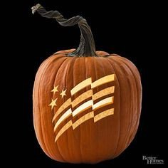 American Flag Pumpkin Carving Template American Flag Patriotic Pumpkin
