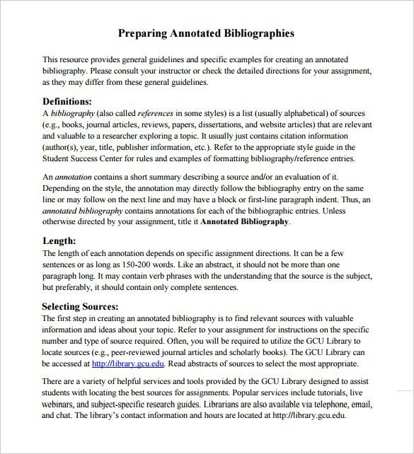 Annotated Bibliography Template Apa 7 Annotated Bibliography Templates – Free Word & Pdf
