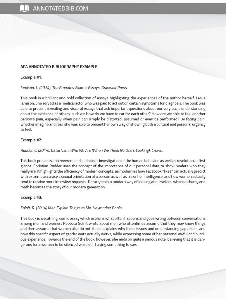Annotated Bibliography Template Apa See Annotated Bibliography Sample Apa Here