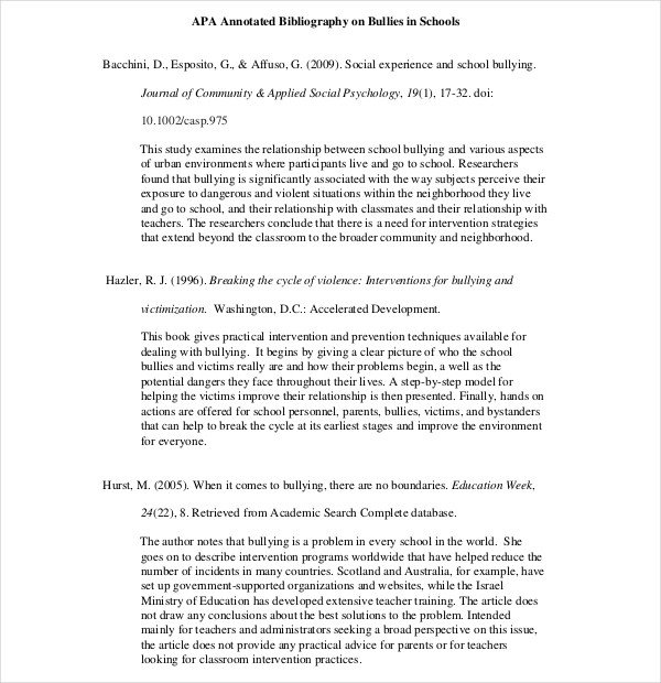 Teaching Annotated Bibliography Template – 10 Free Word