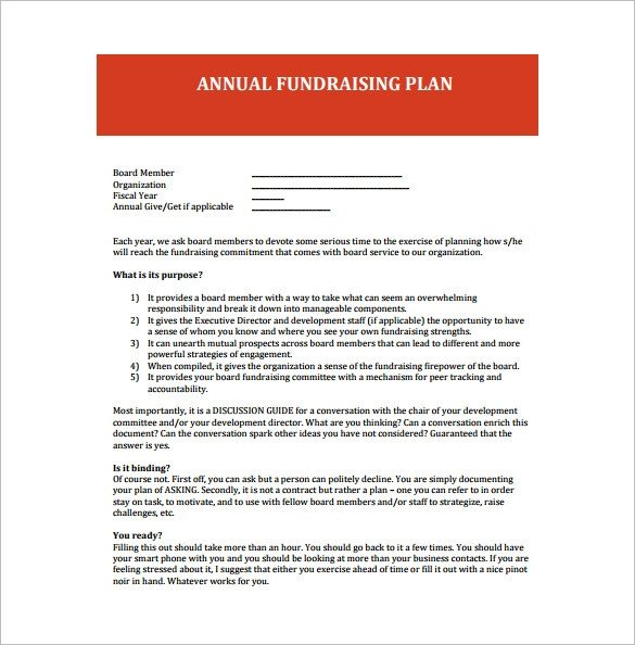 17 Fundraising Plan Templates Free Sample Example