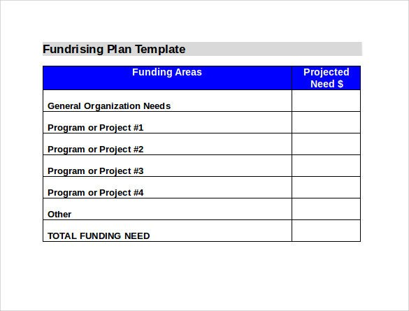 Annual Fundraising Plan Template Sample Fundraising Plan 11 Documents In Word Pdf