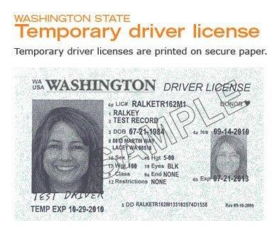Arizona Id Template New Temporary Drivers Licenses Ing to Washington