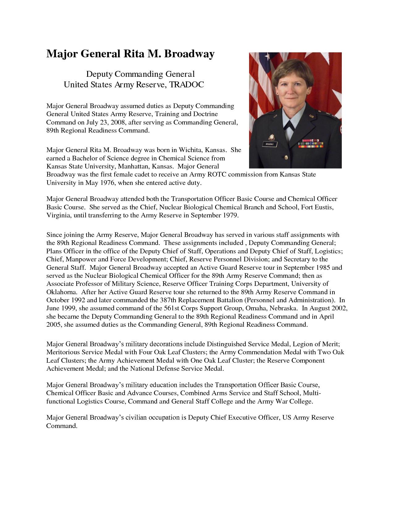 Army Board Bio Example Army Promotion Board Bio Example Free Download