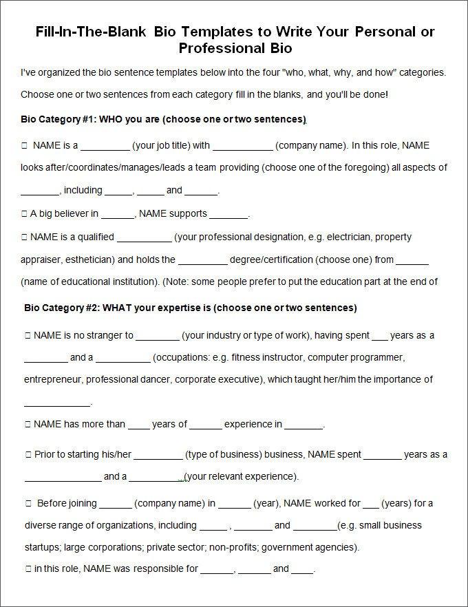Artist Bio Template Word 25 Biography Templates Doc Pdf Excel
