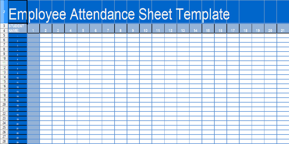 Attendance Sheet Template Excel Daily attendance Sheet Template In Excel Xls Microsoft