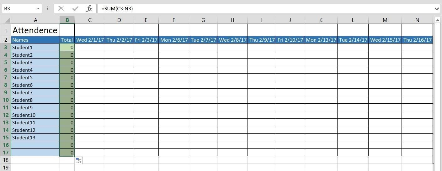 Attendance Sheet Template Excel How to Create A Basic attendance Sheet In Excel