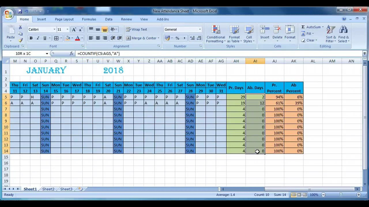 Attendance Sheet Template Excel How to Make attendance Sheet In Excel Anwesenheitsliste
