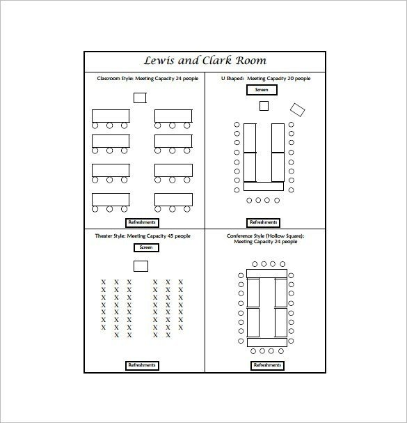 Auditorium Seating Chart Template Conference Table Seating Arrangements
