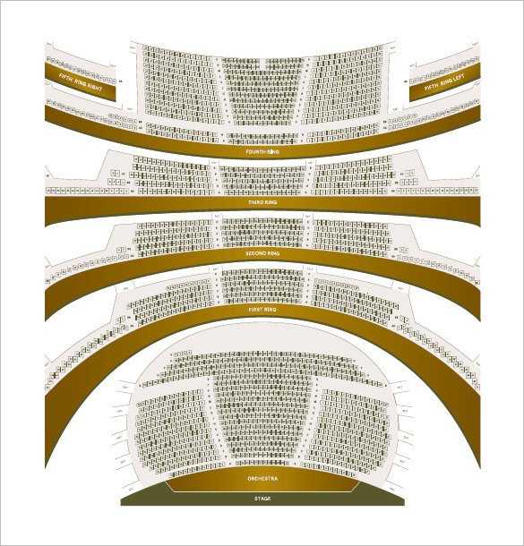 Auditorium Seating Chart Template Seating Chart Template