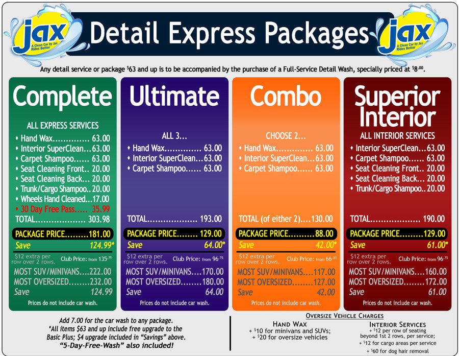 Auto Detail Price List Template Auto Detailing Car Detailing Auto Reconditioning Car Wax