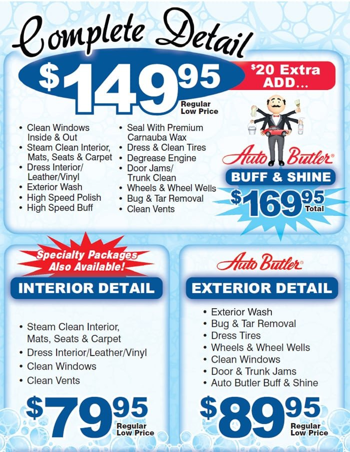 Auto Detail Price List Template Car Interior Detailing Cost 2017 Ototrends