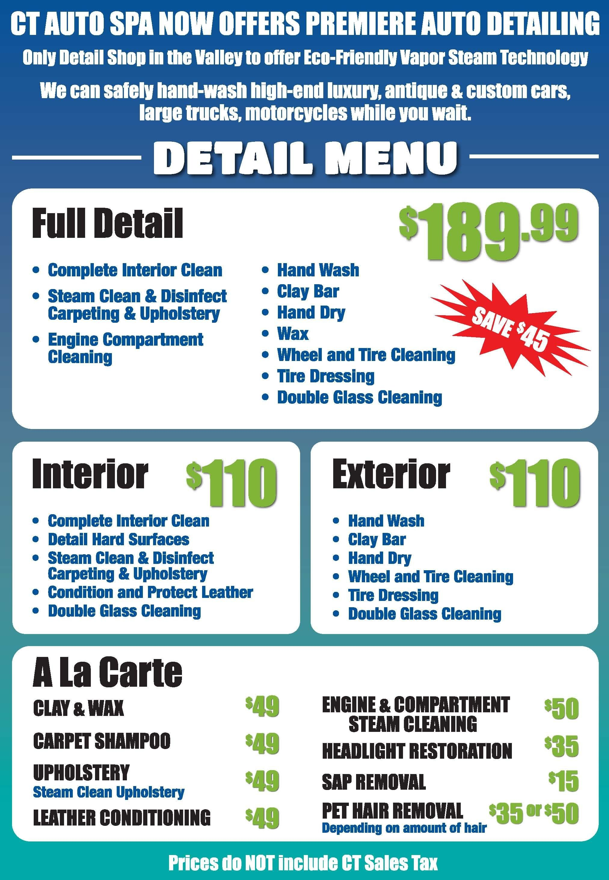 Auto Detail Price List Template Pin by Floyd Gilmon On Mobile Auto Detailing