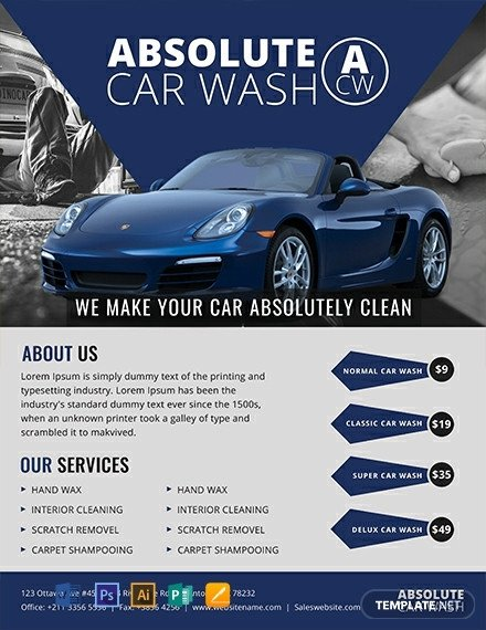 Auto Detailing Flyer Template 10 Free Car Wash Flyer Templates [download Ready Made