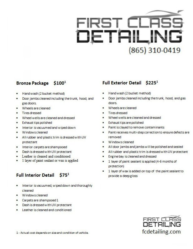 Auto Detailing Flyer Template 20 Of Mobile Detailing Template