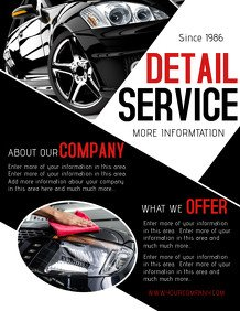 Auto Detailing Flyer Template 800 Customizable Design Templates for Car Detailing