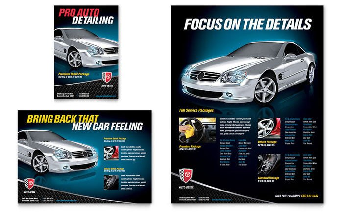 Auto Detailing Flyer Template Auto Detailing Flyer & Ad Template Design