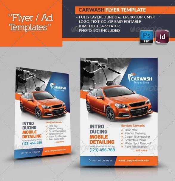 Auto Detailing Flyer Template Fantastic Indesign Flyer Templates 56pixels