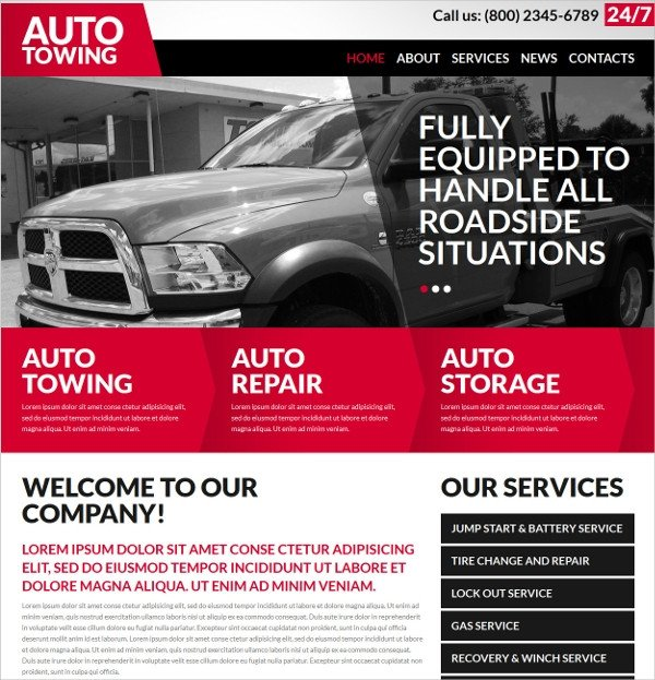 25 Auto Repair Website Themes & Template