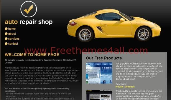 Auto Repair Website Template Auto Repair Shop Css Template Freethemes4all