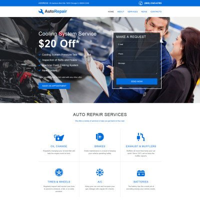 Auto Repair Website Template Car Repair Website Templates
