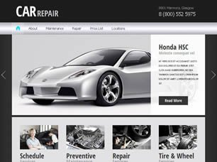 Auto Repair Website Template Free Cars Website Templates 28