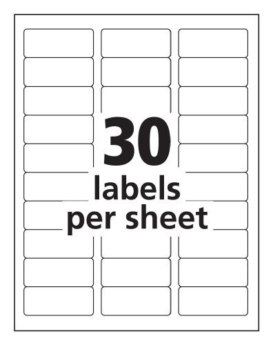 Avery 15660 Template Word Avery Easy Peel Clear Address Labels for Laser Printers 1