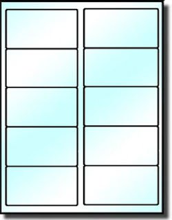 Avery 5163 Labels Template 200 Crystal Clear Glossy Labels 4 X 2 for Use In Laser