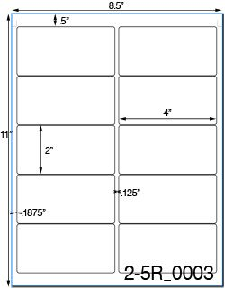 Avery 5163 Labels Template 4 X 2 Rectangle Brown Kraft Label Sheetusually Ships Same Day