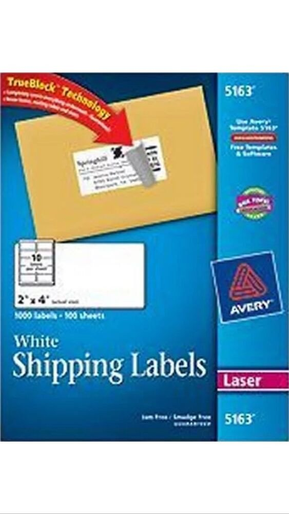 """Avery 5163 Labels Template 50 Avery 5163 8163 2"""" X 4"""" Shipping Address Labels 10"""