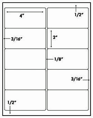 Avery 5163 Labels Template Avery Weatherproof Laser Shipping Labels 2 X 4 500 Pack
