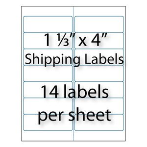 """Avery 8162 Template for Word Address Labels 1 1 3 X 4"""" 14 Up"""