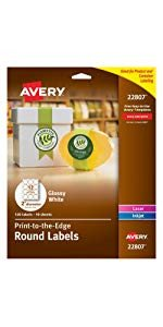 Avery Print to the Edge Square Labels Kraft Brown 2 x 2