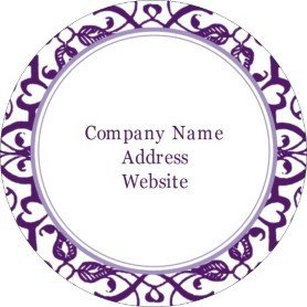Avery Label Template 22825 Templates Classic Purple Pattern Print to the Edge Round