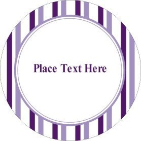 Avery Label Template 22825 Templates Classic Purple Stripes Print to the Edge Round