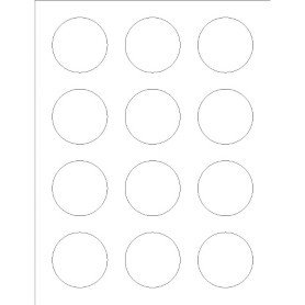 Avery Label Template 22825 Templates Print to the Edge Round Labels 12 Per Sheet