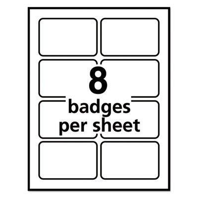 Avery Name Badges Template 5395 Avery 5395 Flexible Self Adhesive Laser Inkjet Name Badge