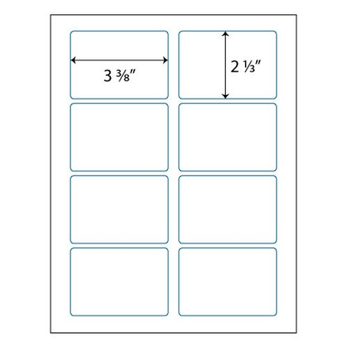"""Avery Name Badges Template 5395 Name Badge Labels 3 3 8"""" X 2 1 3"""""""