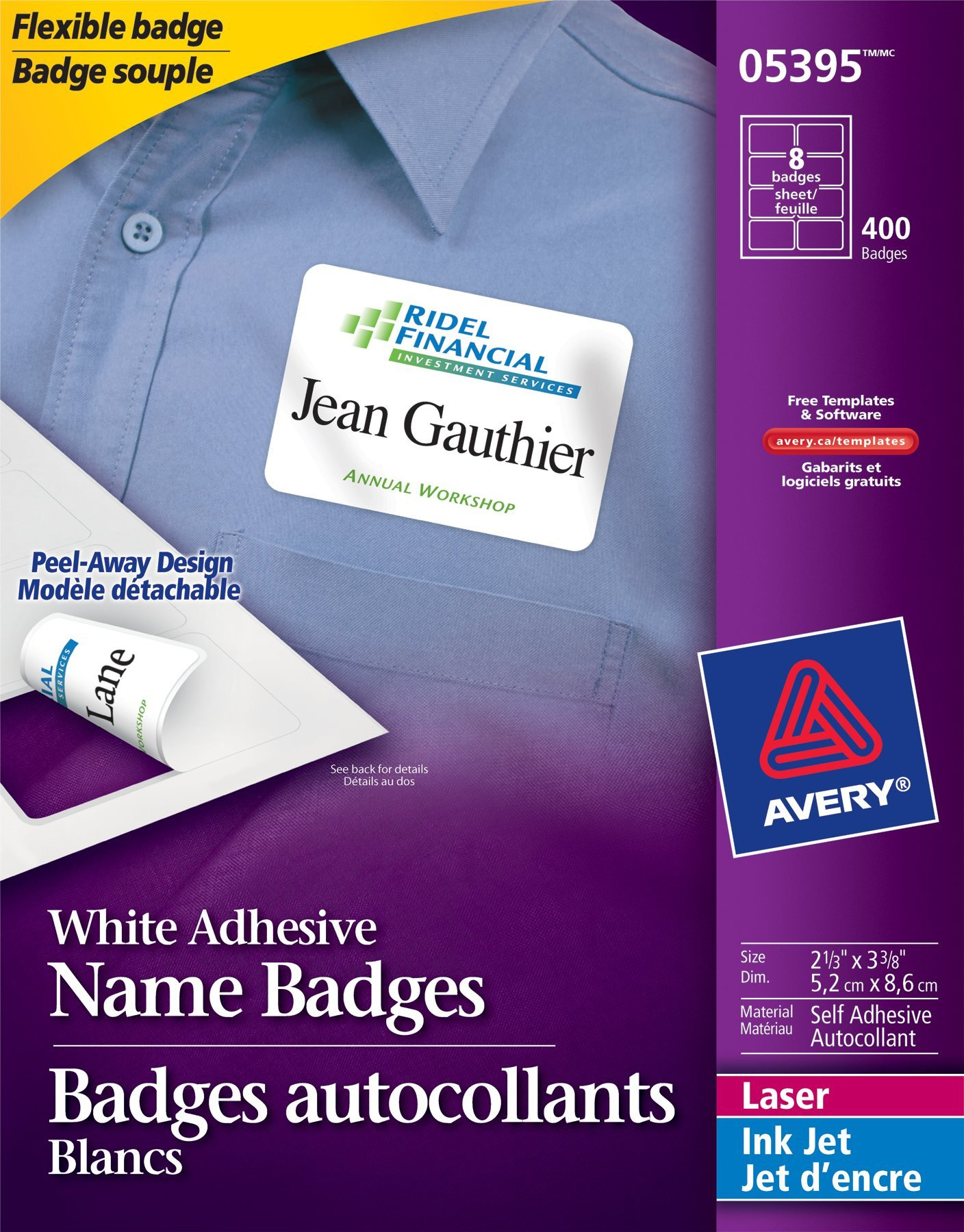 Avery Name Badges Template 5395 Name Badge Labels