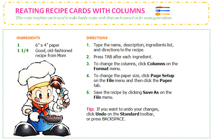 Avery Recipe Card Template Save Word Templates