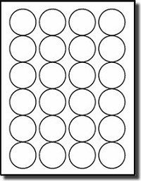 Avery Round Label Template 480 Round 1 5 8 Diameter White Matte Laser and Inkjet