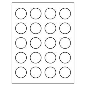 Free Avery Template for Microsoft Word Round Label 8293