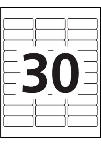 Avery Template 8593 Avery Address Labels 5160 Blank 30 Labels Per Sheet