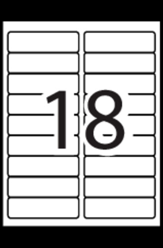 Avery Template 8593 Avery Extra Filing Labels Template 18
