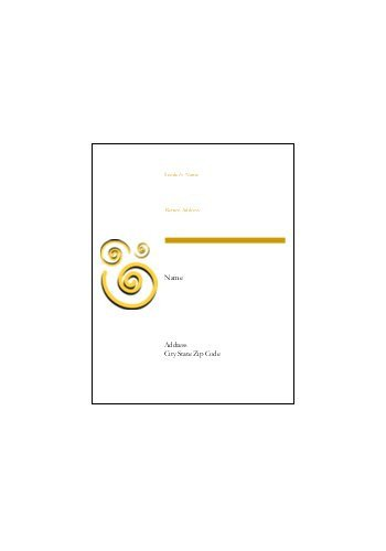 """Avery Template 8593 Blue Spirals Shipping Label 11"""" X 8½"""""""