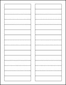 Avery Template 8593 File Folder Labels 1000 Sheets White Matte Blank Laser
