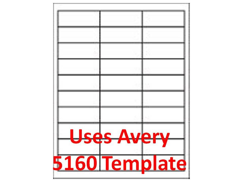 Avery Word Template 5160 5160 Label Template