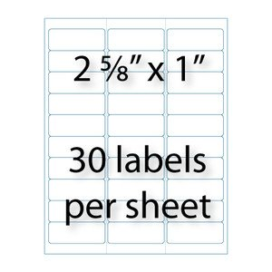 """Avery Word Template 5160 Address Labels 2 5 8"""" X 1 """" 30 Up"""