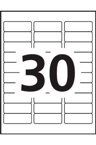 Avery Word Template 5160 Avery Address Labels 5160 Blank Word Template 30