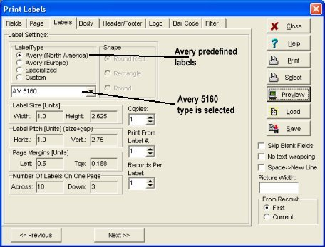 Avery Word Template 5160 Blog Archives Plusmanager